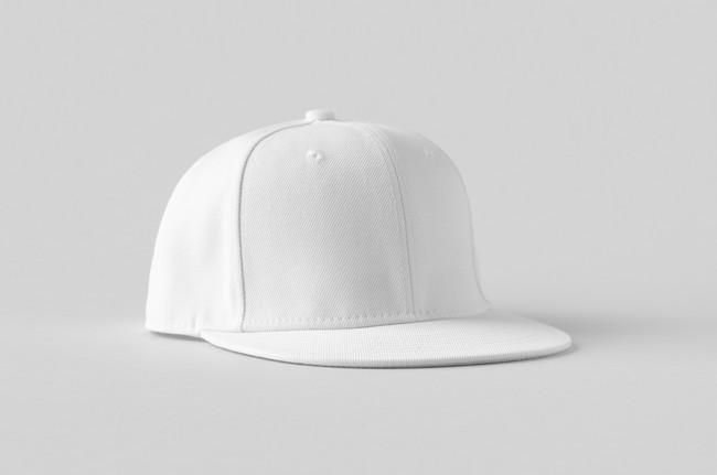 真っ白な帽子