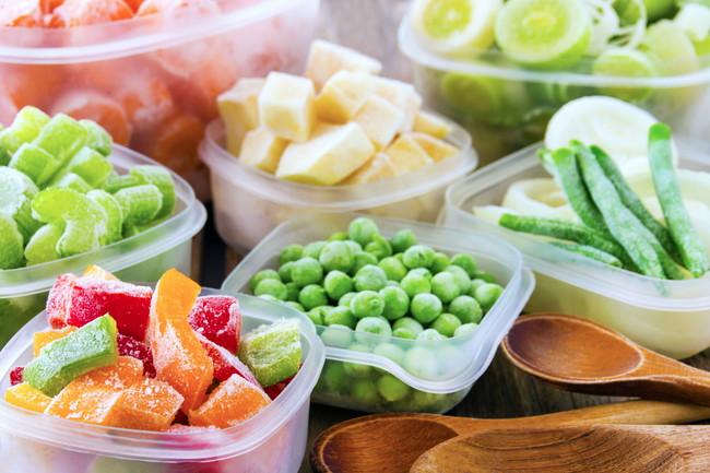 冷凍した野菜