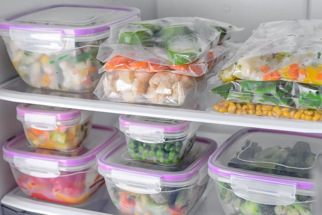 冷凍庫に入っている冷凍食材