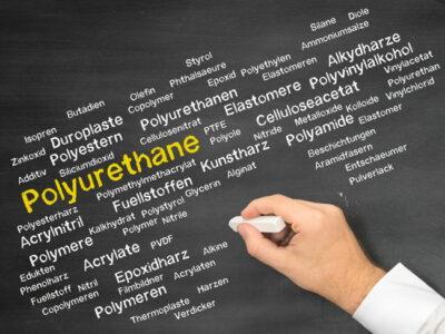 黒板にチョークで書かれたPolyurethane