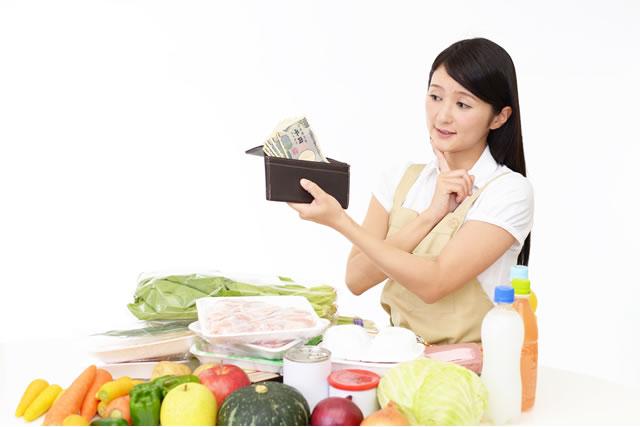 財布と野菜
