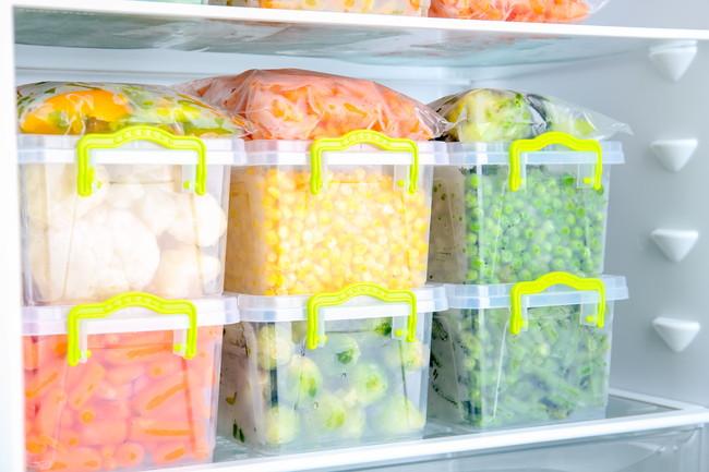整理整頓した冷凍野菜