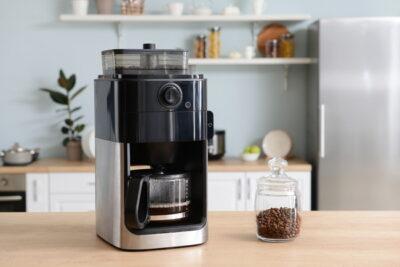 使用中のコーヒーメーカー