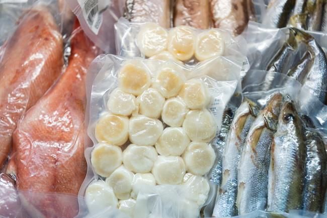 冷凍の魚介類