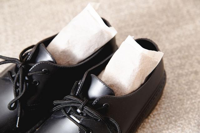 靴に除湿剤