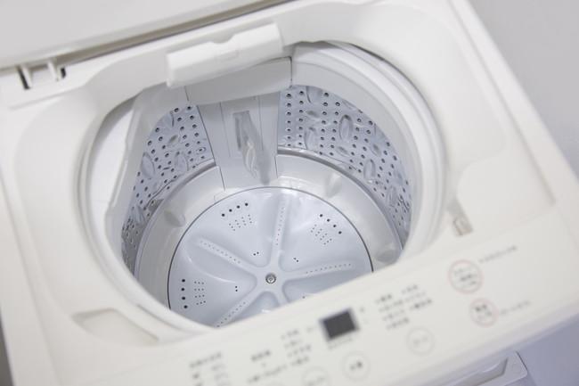 ふたが開いた洗濯機