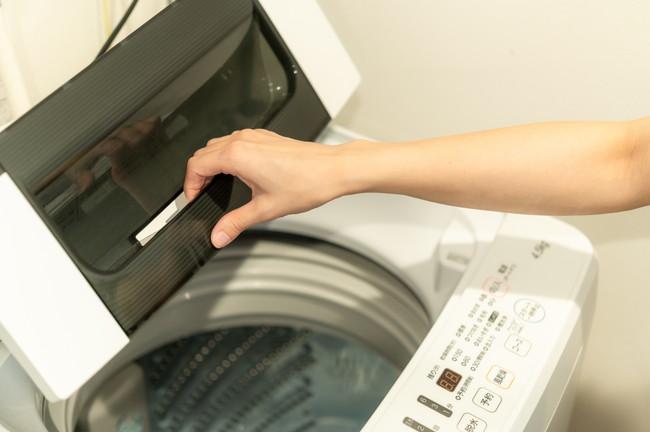 洗濯機を開けた様子