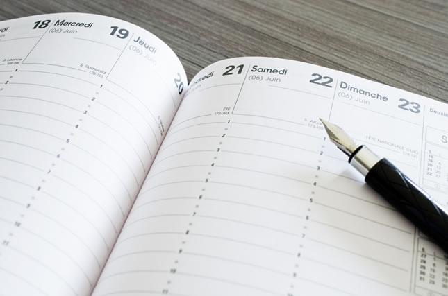手帳の年月日
