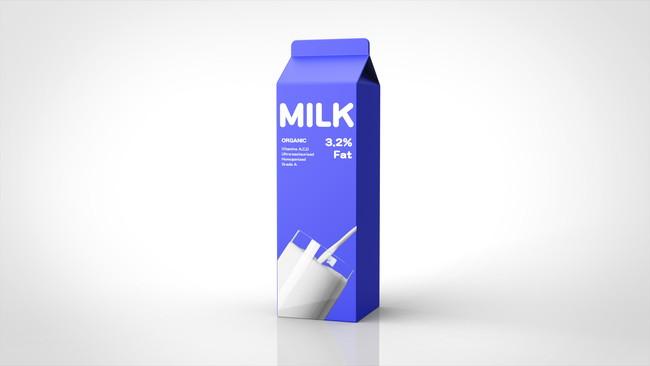 パックに入った牛乳