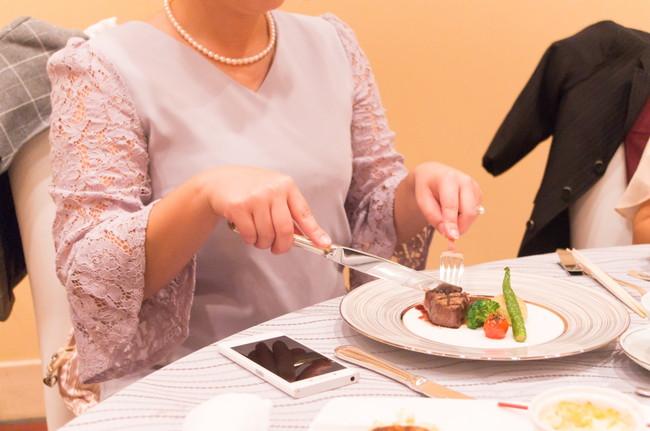 結婚式の食事