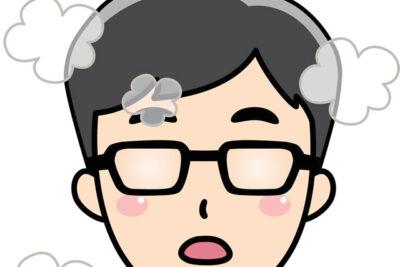 メガネが曇るイラスト