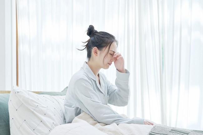 寝起きがよくない女性