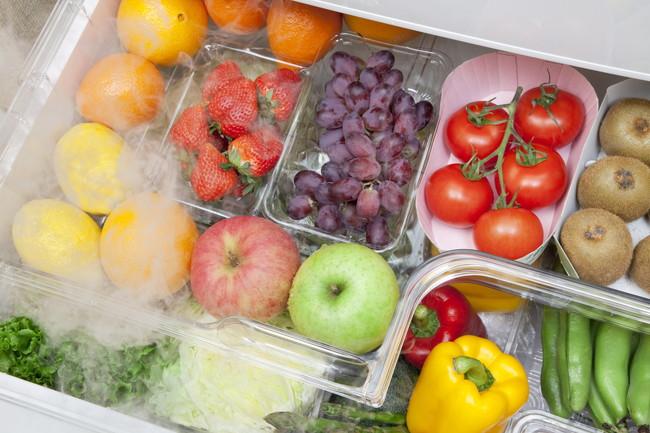 整理整頓された野菜室