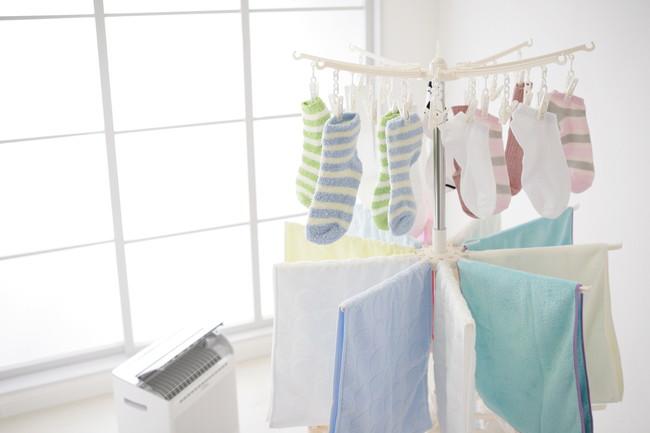 除湿器で洗濯乾燥