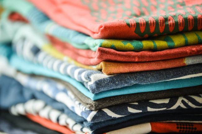たくさん畳んだシャツ