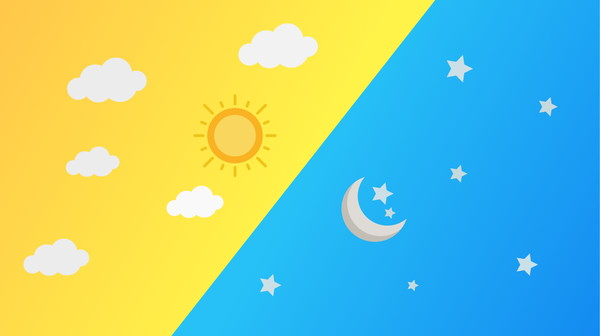昼と夜または太陽と月