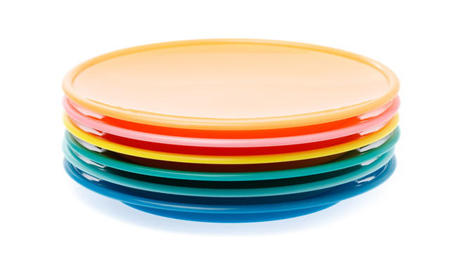 プラスチックのお皿