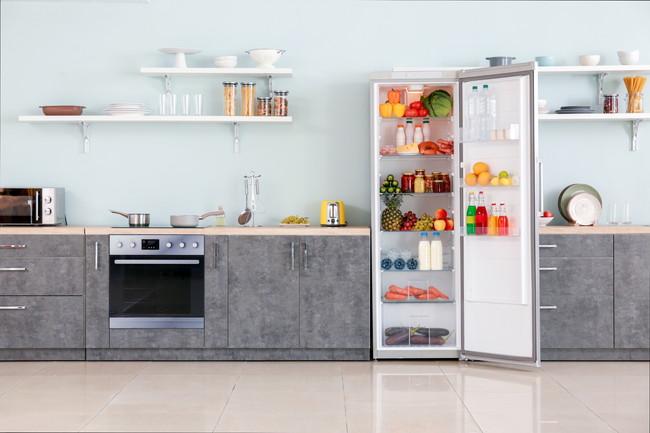 扉が開いたままの冷蔵庫