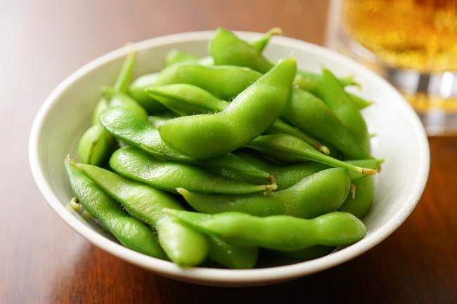 美味しそうな枝豆