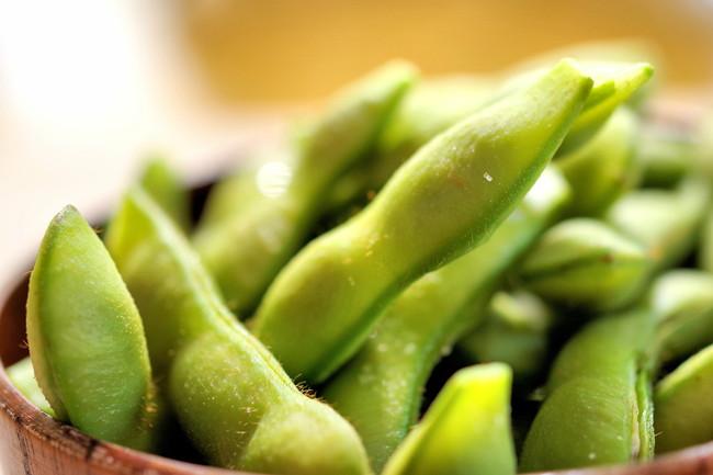 ふっくら仕上がった枝豆