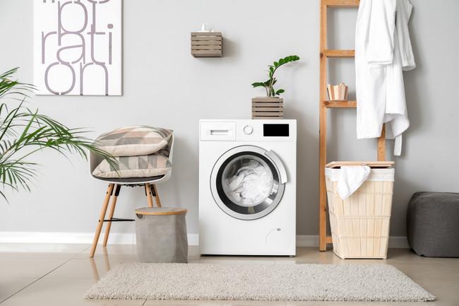 使用中の洗濯機