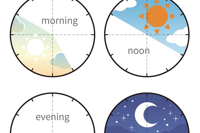 朝や夕方などの時間帯