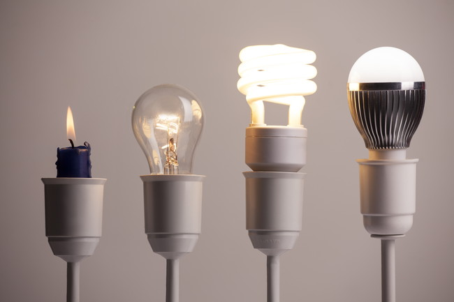 種類の違う複数の電球