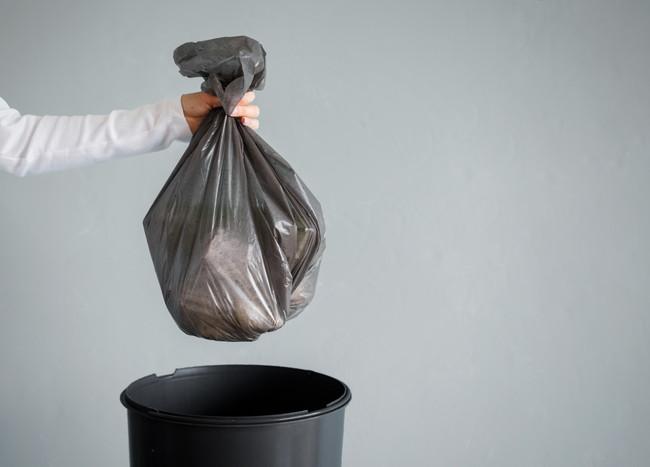 ゴミをまとめた様子
