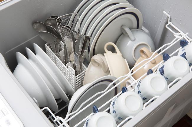 整頓された食洗器