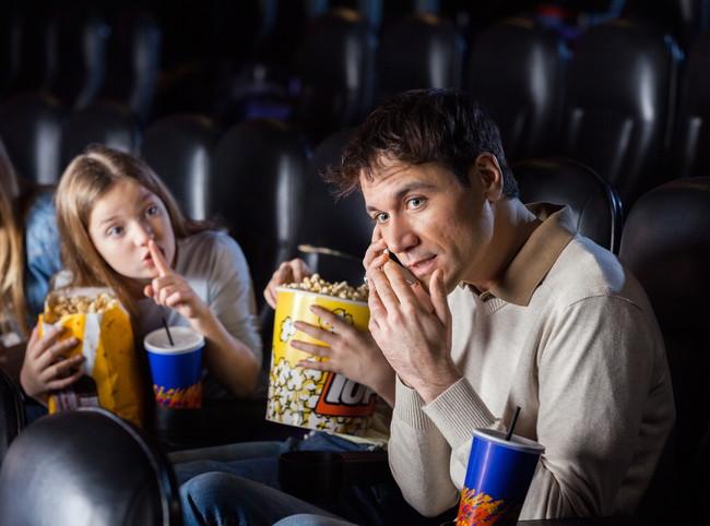 映画館での迷惑行為