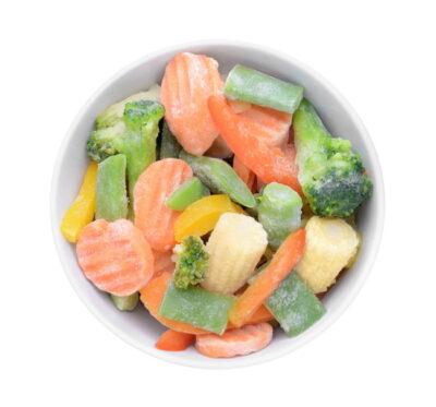 色とりどりの冷凍野菜