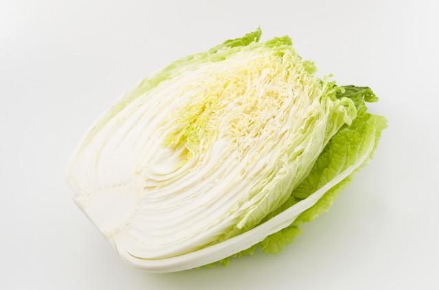 カットされた白菜