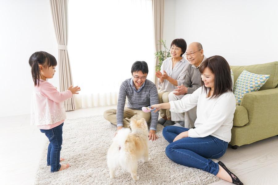 温かい家族の風景