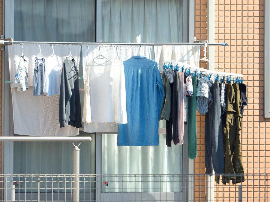 天気のいい日に干されている洗濯物