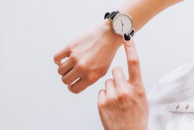 腕時計にも気を使って