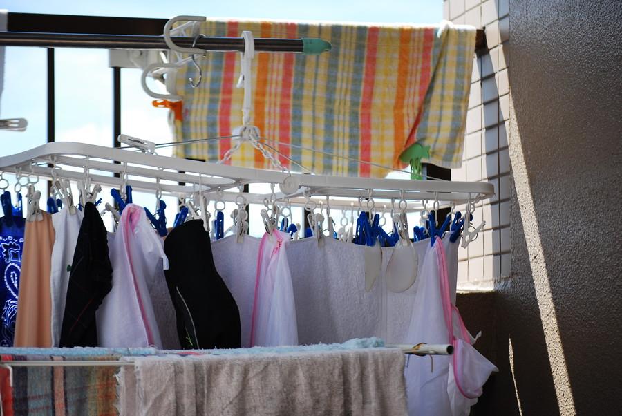 たくさんの洗濯物
