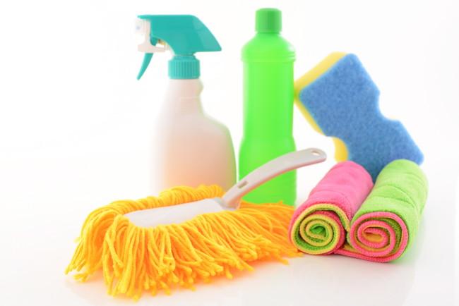 カラフルな掃除道具