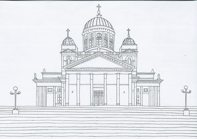 建造物の塗り絵