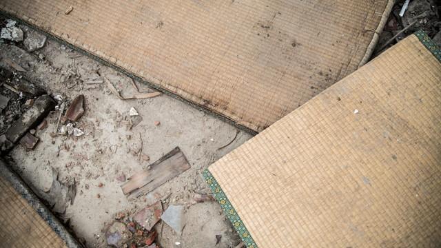 廃棄された畳
