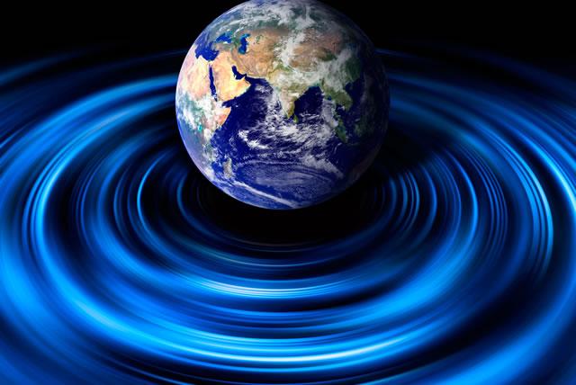 水面に浮かぶ地球