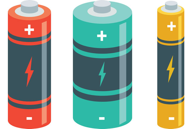 Vector Illustration Of Batteries