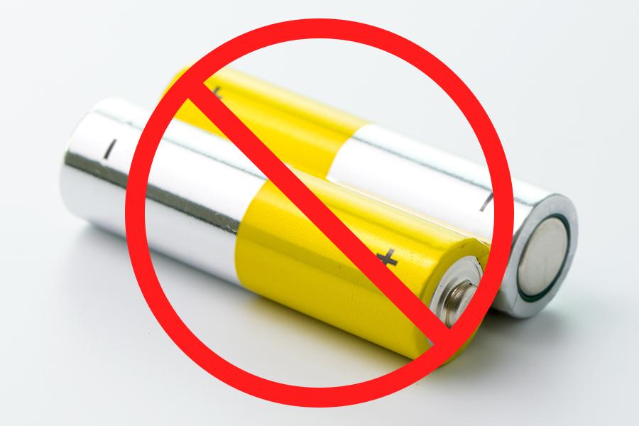 NGな乾電池の捨て方とは