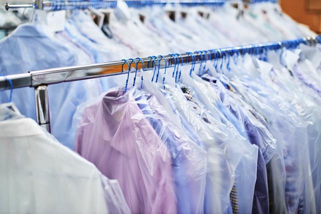 クリーニング店に出された衣類
