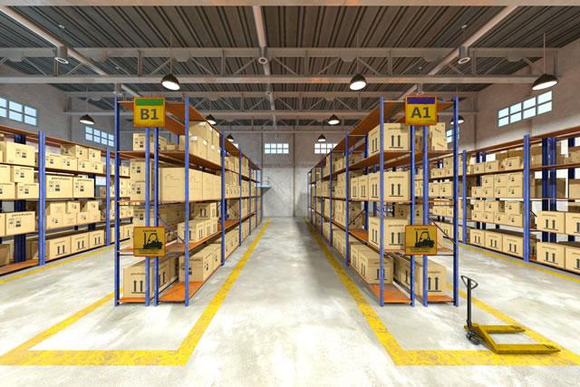 キレイに整理された倉庫