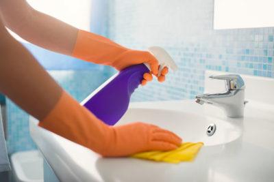 洗面台掃除
