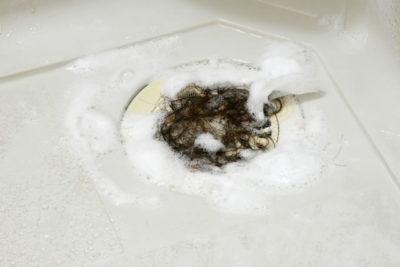 排水口の髪の毛