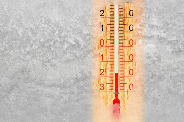 -18度の温度計