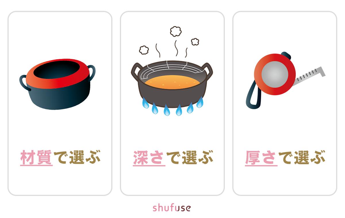 IH対応の天ぷら鍋の選び方