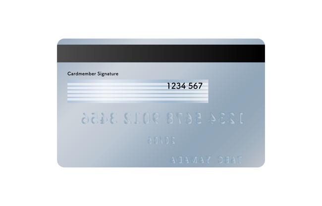 クレジットカードの裏面