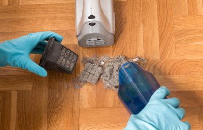 掃除機のダストカップのゴミ